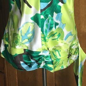 Banana Republic Tops - Banana Republic silk palm print blouse L